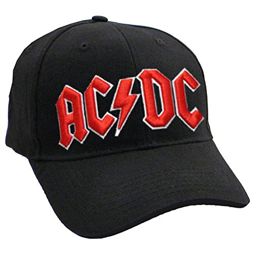 AC/DC Baseball Cap Classic Rot Band Logo Nue offiziell Strapback