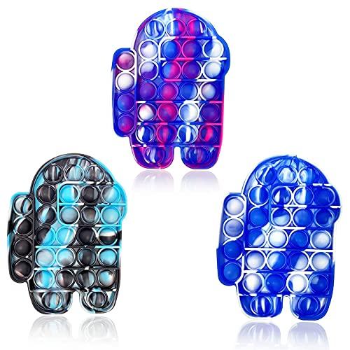 ZNNCO Fidget-Spielzeug, Batik-Druck-Pop-Pop-Blase, sensorisches Fidget-Spielzeug, weiches Silikon, langlebig, Quetsch-Spielzeug für Training logisches Denken und zur Wiederherstellung von Emotionen, Anti-Angst-Werkzeug für Kinder und Erwachsene (C1)