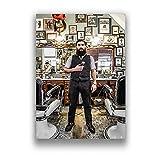 Misszhang Póster De Pintura En Lienzo para Barbería, Decoración De Pared para El Hogar, Pinturas Artísticas En Lienzo, Imágenes Modulares De Cafe Bar, Póster E Impresión Sin Marco S2204 40X50Cm