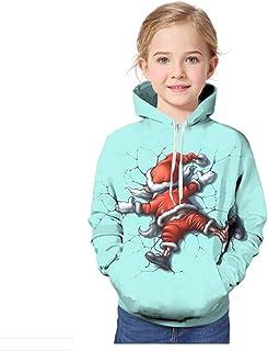 TXYJ Sudadera con Capucha Hombre 3D Impresión Pullover Sudaderas De Tendencia Hoodie Sweatshirt de Mangas Largas Bolsillos...