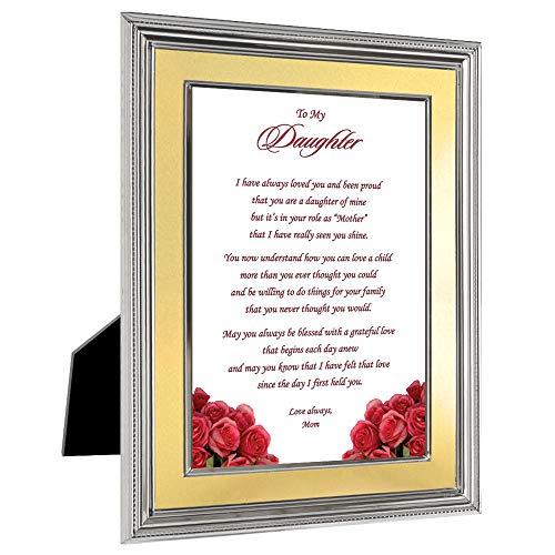 Erwachsene Tochter Geburtstag Geschenk von Ihre Mutter–Gedicht in 12,7x 17,8cm Rahmen
