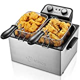 Deep Fryer with Basket, M Minca 1800W Electric Deep Fryer with Timer, Stainless-Steel Triple Basket,...