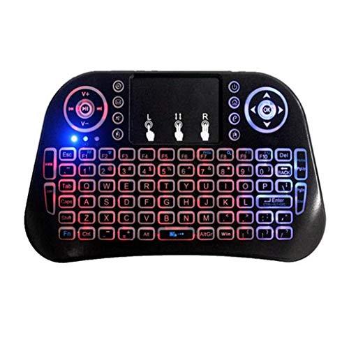 Yoging I10 - Mini teclado de ardilla volante, color carpa inalámbrico para Smart TV, juegos, ordenador portátil, ordenador de sobremesa, televisores de coche