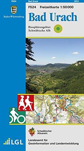 Bad Urach: Biosphärengebiet Schwäbische Alb - Karte des Schwäbischen Albvereins (Freizeitkarten 1:50000)
