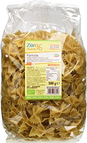 Zer% Glutine Farfalle di Riso Integrale - 500 g