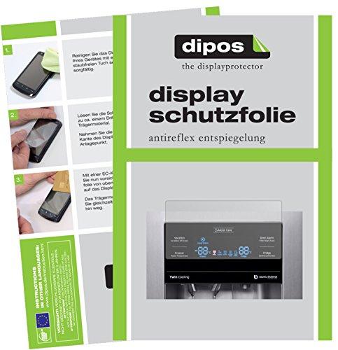 dipos I 2X Protector de Pantalla Mate Compatible con Samsung RS53K4400SA / EG pelicula Protectora