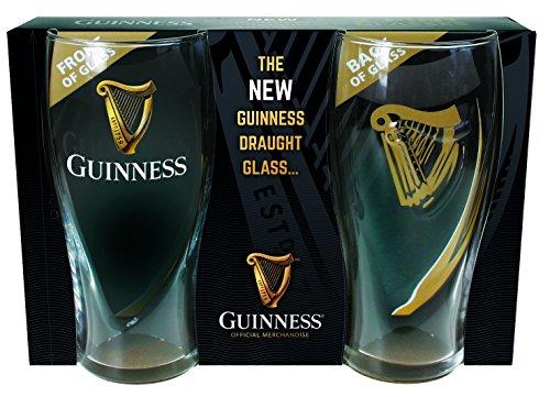 McLaughlin's Irish Shop Neues 2020 Guinness Glas 2er Set Pintmaß in der Geschenkpackung