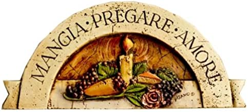 Italian Wall Plaque, Mangia, Pregare, Amore (Eat Pray Love)
