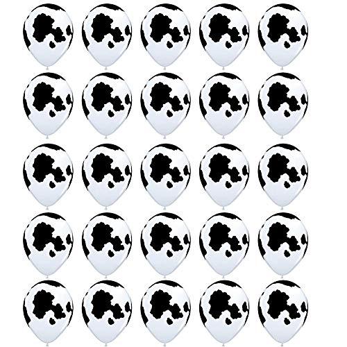 Uteruik Divertidos globos con estampado de vaca, para fiestas infantiles, 25 unidades.