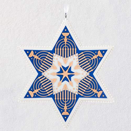 Hallmark Keepsake Ornament 2020, Hanukkah Blessings Star of David, Porcelain