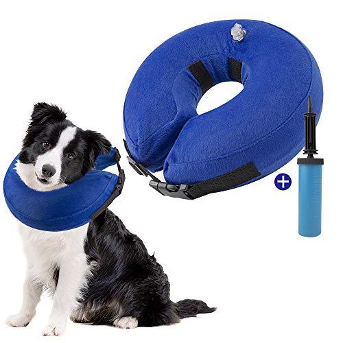 SlowTon Collar de recuperación Inflable para Perros, Collar Inflable para Perros Soft Pet Recovery con Hebilla Ajustable, Grande