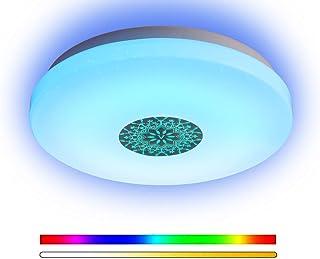 ANYES Luz de techo moderna inteligente Wifi Control de voz Adecuado para sala de estar Dormitorio Cocina Lámpara de techo...
