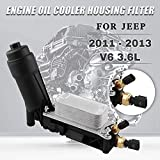 RYANSTAR Engine Oil Cooler Filter Housing Adapter Compatible with 2011-2013 Dodge Jeep 3.6L V6 Engine Replaces# 5184294AE 5184294AD 5184294AC 5184304AE 5184304AF