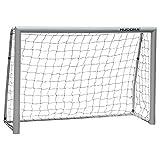 HUDORA Expert 180 Enfant Adolescent & Adulte Football Expert 180 Jardin Cage de Football Gris 180 x 120 x 60 cm