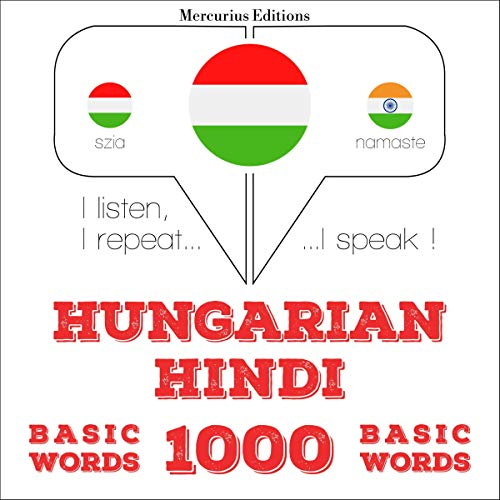 Hungarian – Hindi. 1000 basic words cover art