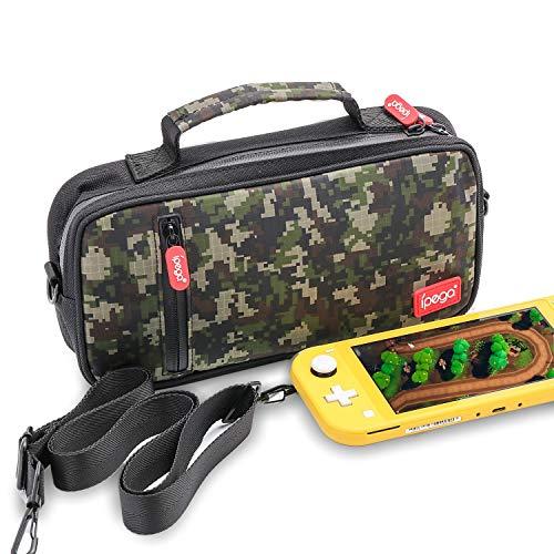 Estojo de viagem para Nintendo Switch Lite, estojo de transporte para Nintendo Switch Lite e Switch Lite acessórios com grande capacidade e alça de ombro ajustável – bolsa transversal e bolsa de ombro