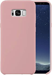 Liquid Silicone Phone Case for Samsung Galaxy S8+ S8 Plus/Full Body Protection/Shockproof/Gel Rubber/Cover Case Drop Protection Pink