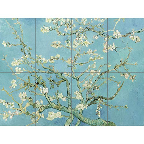 Artery8 Vincent Van Gogh Almond Blossom XL Giant Panel Poster (8 Sections) Fiorire Manifesto