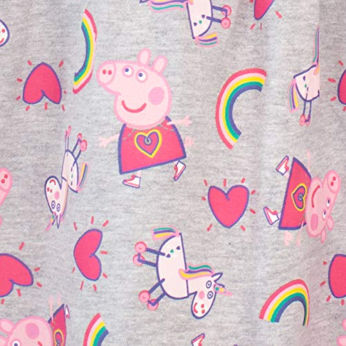 Peppa Pig Vestido para niñas Unicornios y Arco Iris Multicolor 3-4 Años