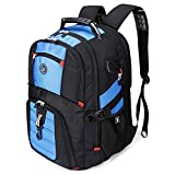 Durable 50L Travel Laptop Backpack with USB Charging Port fit 17 Inch Laptops Blue