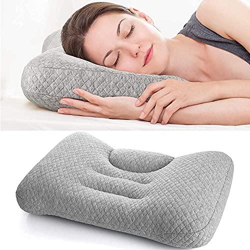 Cuscino del collo del letto dell'archivia, cuscino cervicale regolabile per dormire, riempimento innovativo PE. Tubi per la schiena laterale Stendisetto Schedatori di stomaco, lavabile contorno ortope