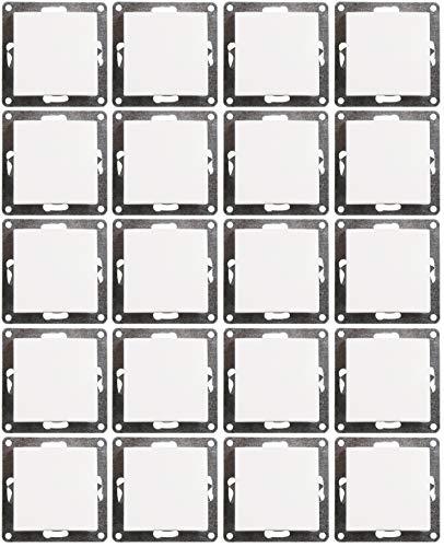 MC POWER - 20er Pack Wechselschalter | FLAIR | weiß, matt