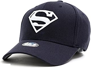 myglory77mall Superman Shield Embroider Baseball Cap Spandex Fitted Trucker Hat