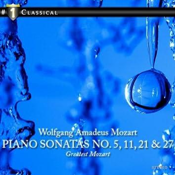 Piano Sonatas No. 5, 11, 21 & 27