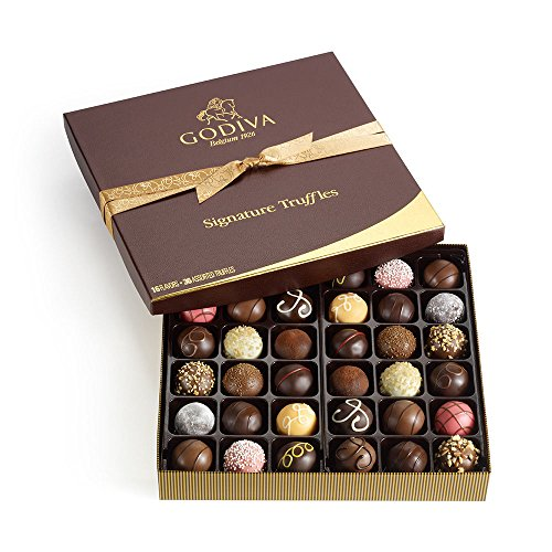 Godiva Chocolatier Assorted Chocolate Truffles Signature Gift Box, 36-Pieces, 2.2 Pound