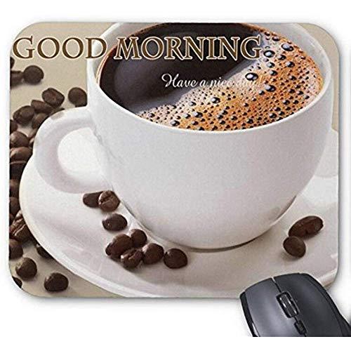 Mousepad Gutenmorgen-Kaffee-Druck-Mäusematte