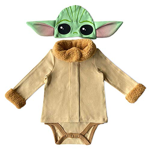Star Wars Grogu (The Child) Costume Bodysuit for Baby – The Mandalorian, Size 12-18 Months