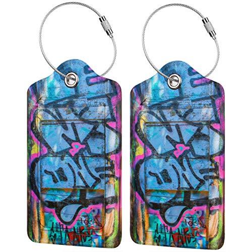 Etiquetas pintadas para equipaje de puerta, maleta, portabicicletas de equipaje con correas...