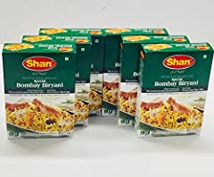 Shan Bombay Biryani mix helps you recreate the authentic traditional taste of Bombay Biryani which is a true legacy of the sub-continental cuisine. Authentic and delicious and easy to prepare at home. Product of Pakistan. 6 Pack of 2.1 oz/60g Box.