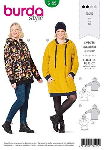 Burda 6195 Schnittmuster Sweater (Damen, Gr. 44-58) Level 2 leicht