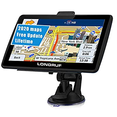 GPS Navigation for Car 7 inch HD Touch Screen, Vehicle GPS Navigator Voice Traffic Warning Speed Limit Reminder, GPS Navigation System with 8GB Large Storage, Lifetime Maps Update for Free