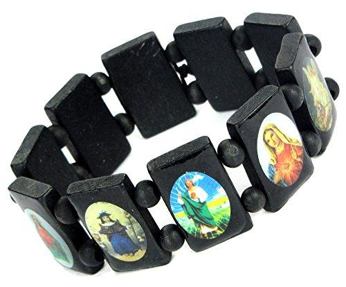Lovely Lauri XXL Holz Armband Ikonen Heilige Bilder groß Schwarz
