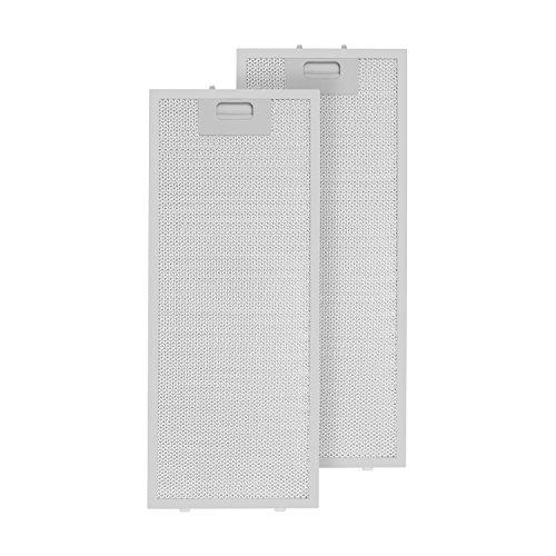 Klarstein Aluminium-Fettfilter Austauschfilter Ersatzfilter 2 x Filter (Klickverschluss, 218,5 x 56 x 0,9 cm, ca. 220 g, Aluminium, für Klarstein Lorea Dunstabzugshauben) silber