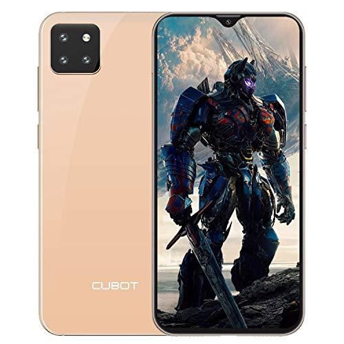 CUBOT X20 Smartphone ohne Vertrag, 4GB RAM/64GB, 6.3 Zoll FHD Display, 4000mAh, 3 Kameras, 4G Dual SIM, 256GB Erweiterbar, Android 9.0, Face-Unlock, Golden