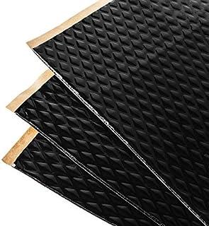 Noico Zwart 2 mm 3,4 m² zelfklevende anti-rammel trillingsdempende mat, auto akoestisch isolatie (lawaaireductie en geluid...