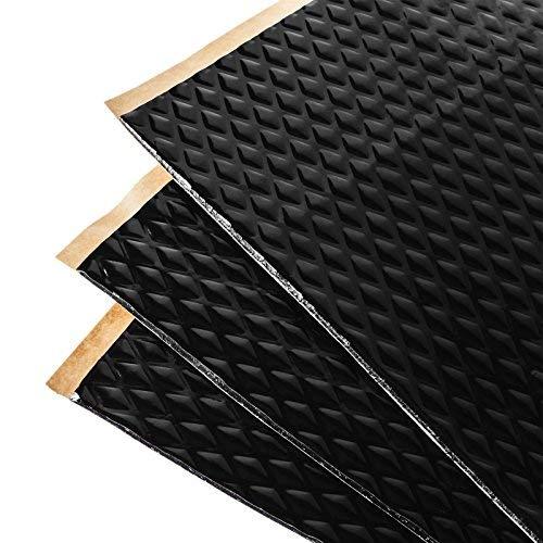 Placas insonorizantes Noico Negro para automóviles, de 2 mm de Grosor y 3,4 m2 de Superficie, Aislamiento acústico de Caucho butilo para Coches, Aislamiento y amortiguamiento de Ruidos
