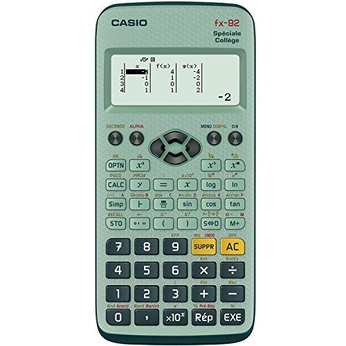 Casio FX92 COLLEGE 2D+ Poche Calculatrice scientifique Vert calculatrice - Calculatrices (Poche, Calculatrice scientifique, 10 chiffres, 5 lignes, Batterie/Pile, Vert)