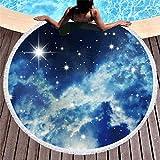 Vanzelu Toalla De Playa Tropical con Filtro Solar, Toalla De Playa De Microfibra, Serie De Cielo Estrellado, Alfombra Acolchada