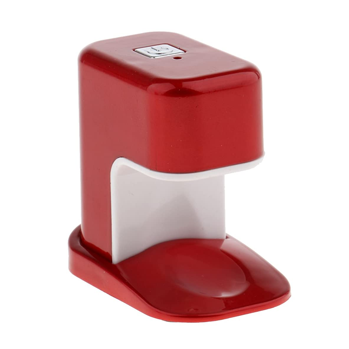 海里適合する穀物Kesoto ネイルドライヤー USBケーブル ミニ 3wシングル指 LED電球 ネイル ランプ ポケット アクリル UV マニキュアドライヤー 3タイプ選べ - 赤