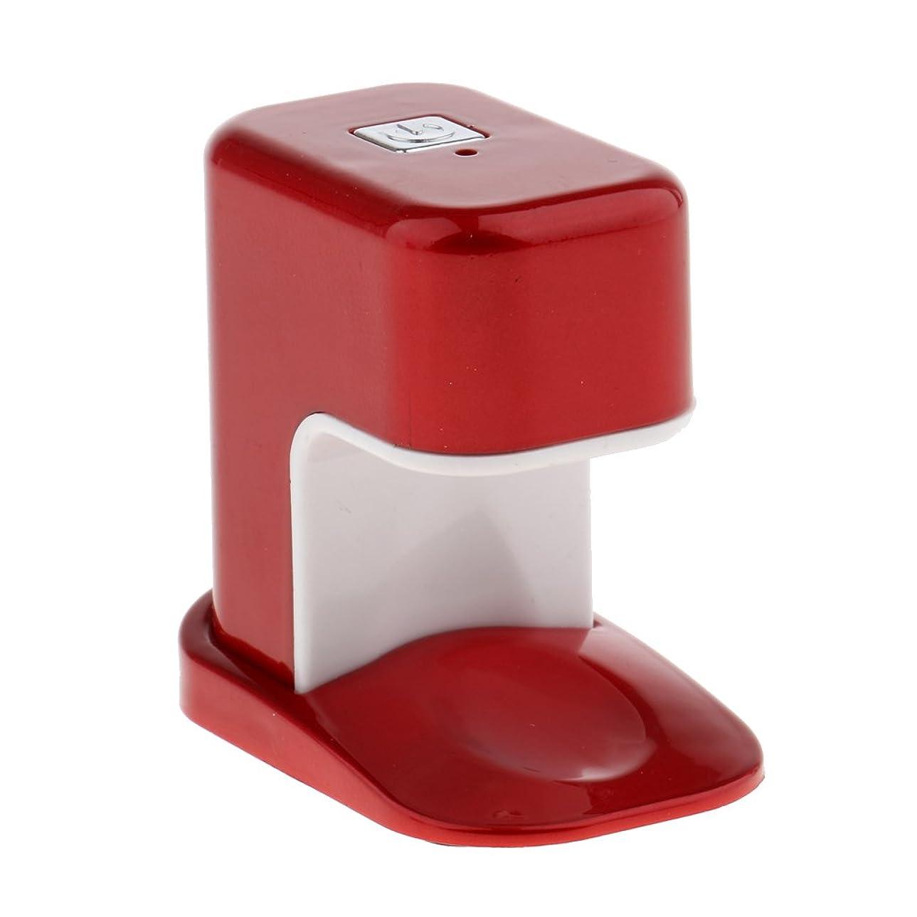 干し草しがみつくズームPerfk ネイルドライヤー USBケーブル ミニ ABS製 3W LED電球 ランプ ポケット アクリル UV マニキュア ネイルサロン 3タイプ選べ - 赤