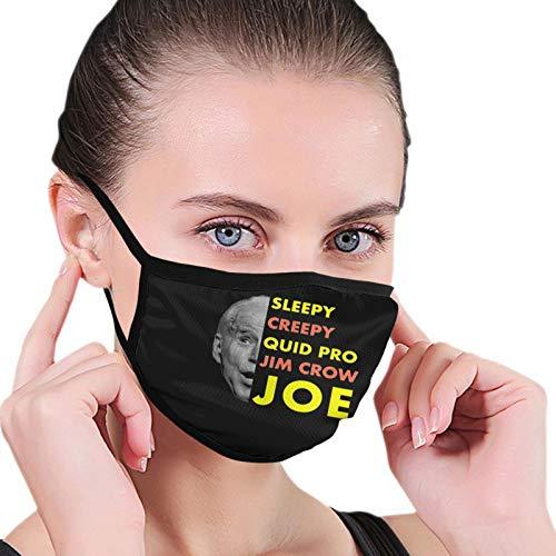 Unisex Face Mask Sleepy Creepy Quid Pro Jim Crow Joe Reusable Cloth Face Mask Adjustable Black