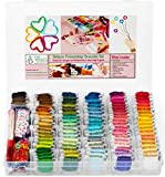 Friendship Bracelet String Kit - 276pcs Embroidery Floss and Accessories - Labeled with Embroidery Thread Numbers for Cross Stitch Supplies, Embroidery, String Art - Gift for Girls 7 to 12