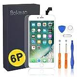 bokman Écran Tactile LCD pour iPhone 6 Plus Blanc, Vitre Tactile avec Kit de...