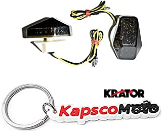 Krator Motorcycle 2000-2008 Suzuki LED Flushmount Turn Signals Smoke Flush Mount Indicators Signals Fits GSXR 600 750 1000 1200 SV1000 BANDIT + KapscoMoto Keychain