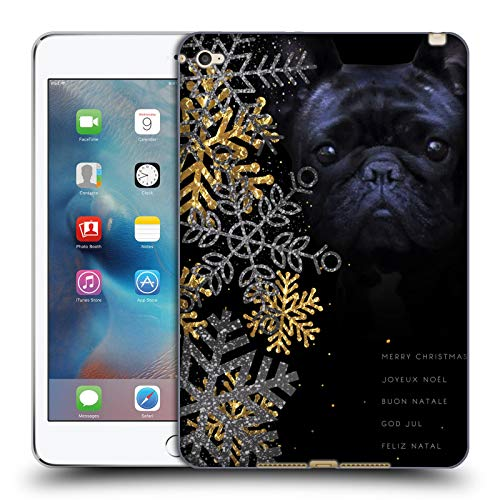 Official Klaudia Senator Snow Flakes French Bulldog 2 Soft Gel Case Compatible for Apple iPad mini 4