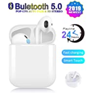Wireless Earbuds,24 Hours Extended Playtime Bluetooth Headphones,2019 Latest Intelligent Noise...